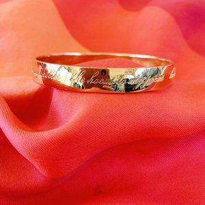 ksny gold bangle bracelet